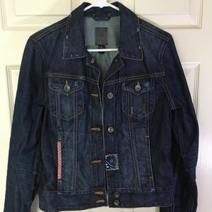 Lucky Brand Distressed Blue Jean Jacket Size M